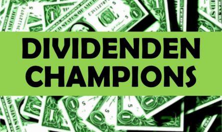 Dividenden Champions Klein Aktien Dividenden Wachstumsaktien