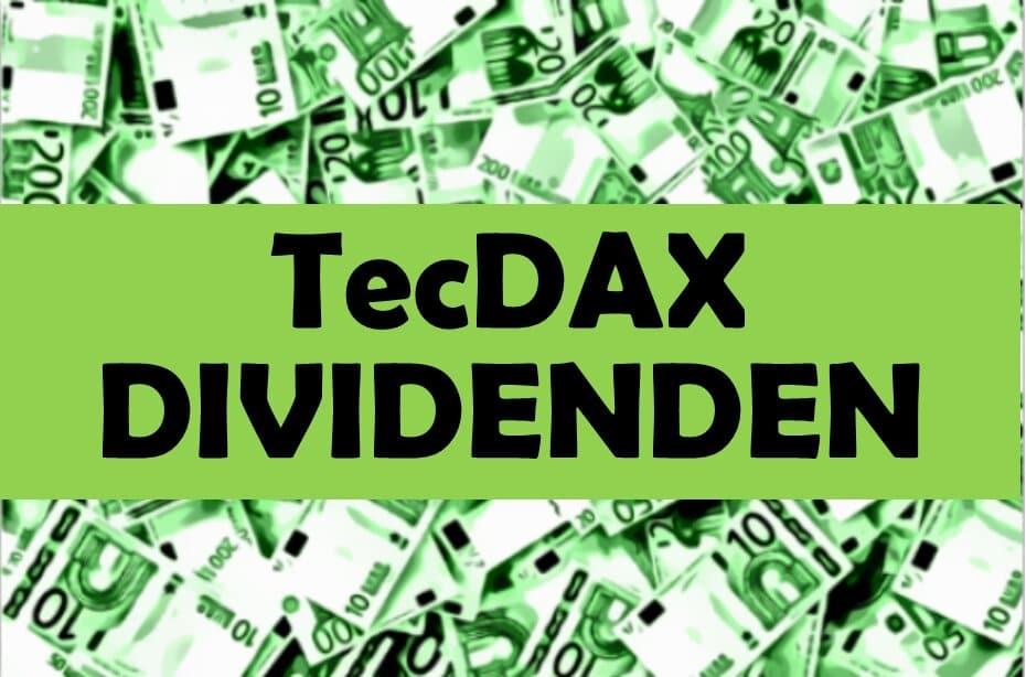 TecDAX Dividenden Klein Dividendenwachstum Aktien